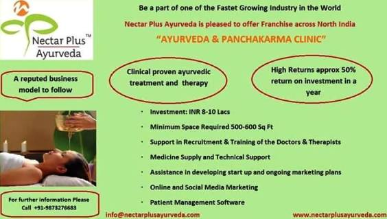 Franchise opportunities in ayurveda and Business options in ayurveda